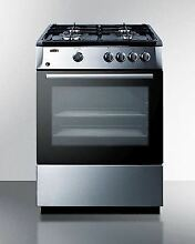 Summit PRO24G 24  Gas Range   Stainless Steel   Black