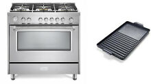 Verona Designer Series VDFSGG365SS 36   All Gas Range Oven W Griddle Stainless