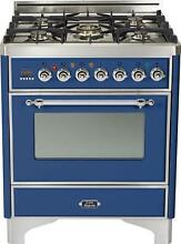 Ilve UM76DMPBLX Majestic 30  Pro Single Oven Dual Fuel Range Midnight Blue