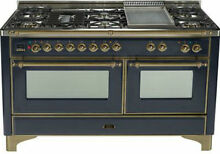 Ilve UM150FDMPMY Majestic Series 60  Dual Fuel Gas Range Double Oven 7 Burner