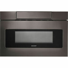 Sharp Insight Black Stainless 24  Microwave Drawer LCD Display SMD2470AH