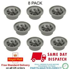 GENUINE HOTPOINT BOSCH WHIRLPOOL DISHWASHER LOWER BASKET WHEEL 8 PACK