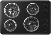 Coil Electric Cooktop 30 in  Chrome Drip Bowls Dishwasher Safe Knobs