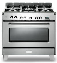 Verona VCLFSGE365SS 36  Pro Style Dual Fuel Range Stainless Steel Reduced Price