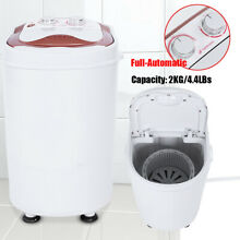 Portable Mini 4 4LBS Washing Machine Full Automatic Compact Laundry Washer Spin