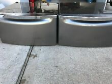Whirlpool  or Kenmore  2 pedestals for washer and dryer stainless steel