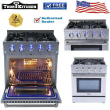 Gas Range 30  Thor Kitchen HRG3080U Professional Stainless Steel With 4 Burner