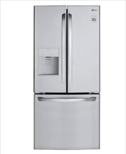 LG LFDS22520S 21 8 Cu Ft French Door Refrigerator Stainless Steel Auto Ice Maker