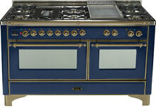 Ilve UM150FDMPBLY Pro 60  Dual Fuel Gas Range Double Oven Reduced Price
