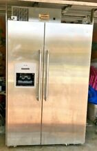 AMAZING DEAL  RARE 2003 THERMADOR 48  STAINLESS STEEL SIDE BY SIDE BUILT