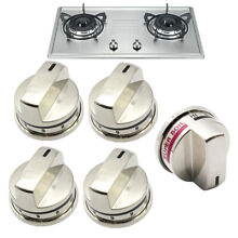 1x Knob of EBZ37189609  4x Burner Knobs of EBZ37189611 for LG Range Gas Stove US
