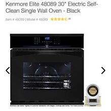Kenmore Elite 48089 30  Electric Self Clean Single Wall Oven black NEW