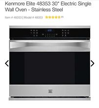 Kenmore Elite 48353 30  Electric Single Wall Oven   Stainless Steel NEW in Box