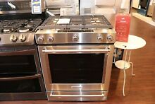 New Open Box KitchenAid  30  Stainless Steel Slide In Gas Range KSGB900ESS