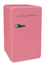 New Pink 3 2 Cu  Ft  Retro Mini Fridge Compact Refrigerators Dorm Office Freezer