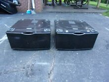 2 each Samsung Black Pedestals WE357A0V XAA for Washer and Dryer WITH HARDWARE