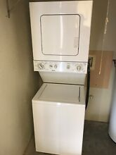 Washer dryer stacked Kenmore used white good condition