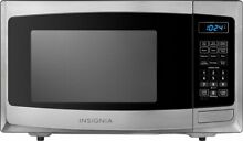 Insignia NS MW09SS8 0 9 Cu  Ft  Compact Microwave Stainless steel