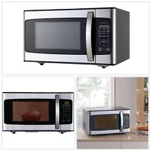 Microwave Oven Stainless Steel 1 1 Cu  Ft  1000 Watts Power Kitchen Appliances
