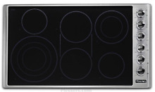 Viking VECU53616BSB 5 Series 36 Inch Electric Cooktop with 6 Elements