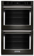 KitchenAid KODE507EBS 27 Inch Double Electric Wall Oven with 4 3 cu  ft