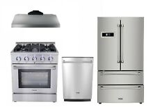 30  Gas Range  30  Hood  24  Dishwasher   36  Refrig Thor Kitchen 4 Piece PKG