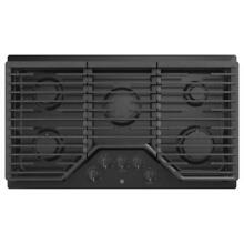 GE 36 in  Built In Gas Cooktop Black with 5 Burners including Power Boil Burner