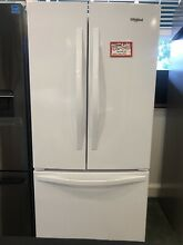 Whirlpool   22 1 Cu  Ft  French Door Refrigerator   White Model WRF532SMBW