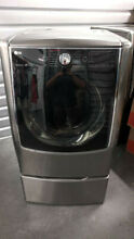 LG Front Load Washer And Dryer Set  Used Great Condition  Silver  with Pedestals