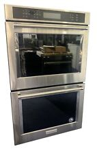 30  Stainless Steel Electric Double Convection Wall Oven