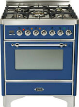 Ilve UM76DVGGBLX 30  Pro All Gas Range Single Oven ChromeTrim Price Reduced