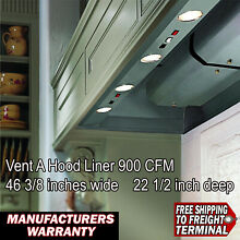 Vent A Hood Liner bh346psld ss 900 cfm stainless 46 3 8 wide 22 1 2 inch deep