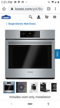 Bosch HBL8451UC 800 Series 30 Inch Single Electric Wall Oven in Stainless Steel