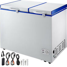 Deep Freezer Chest Freezer 8 2 cu ft 2 Separate Zones Freezer With Baskets