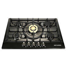 USA  Gold 30 inch Stainless Steel 5 Burners Built In Stoves NG Fixed Gas Cooktop