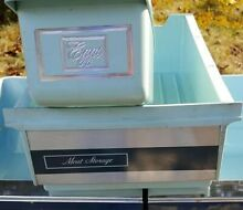 Vintage refrigerator drawers in beautiful baby blue