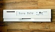 White Kitchenaid Dishwasher Touchpad Front Controls Control Panel 8269133 CLEAN
