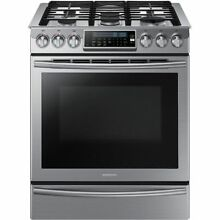 Samsung NX58H9500WS 5 8 cu  ft  Gas Convection Range Oven   Stainless Steel