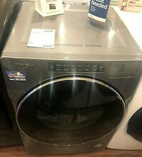 New Open Box Whirlpool  7 4 Cu  Ft  Chrome Shadow Front Load Gas Dryer WGD6620HC