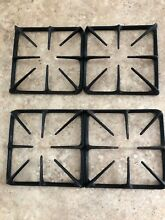 VINTAGE STOVE Lot Of 4 Gas Range Cast Iron Burner Grate Black