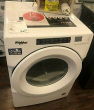 New Open Box Whirlpool  7 4 Cu  Ft  White Front Load Electric Dryer WED560LHW