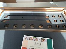 GE Cafe Series Rose Gold Electric Double oven knobs and handle Set Open Box