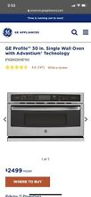 GE Profile PSB9120SFSS Series 30 in  Single Wall Oven with Advantium Technology