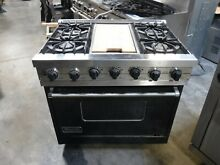 Viking duel fuel 36 gas range black and stainless vdsc365