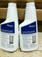 Lot of 2 Genuine  Whirlpool Ice Machine Ice Maker Cleaner Unopened New