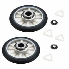 For Maytag Rear Drum Support Roller Wheel Kit Set Of 2   LA5438903PAMT170