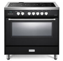Verona Designer VDFSEE365E 36  Electric Range Oven Convection Matte Black