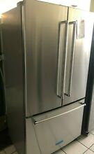 New Open Box KitchenAid  20 Cu  Ft  Stainless Steel Counter Depth French Door Re