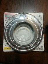 5 Ft Washing Machine Water Hose 2 Pack Set Stainless Steel Part Supply Lines RB