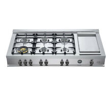 Staineless Steel 48 inch Gas Range top 6 burner Stainless Steel Stove Cooker